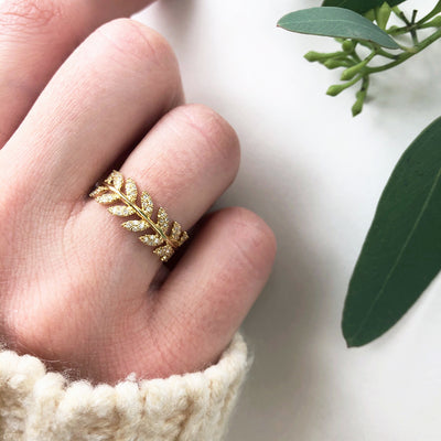 Diamond Olive Branch Eternity Band