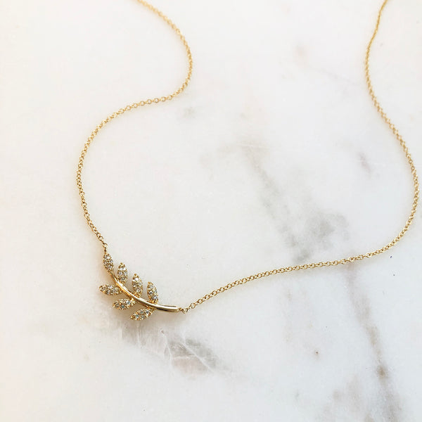 APHRODITE DIAMOND BRANCH NECKLACE