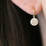 AUDREY DIAMOND DISC EARRINGS - katie diamond jewelry