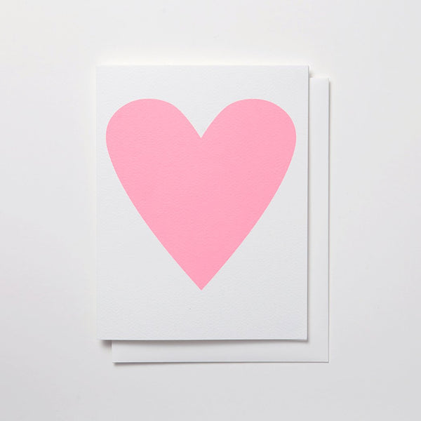 BABY PINK HEART CARD - katie diamond jewelry