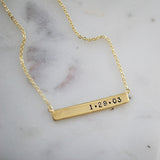 CUSTOMIZABLE BAR NECKLACE - katie diamond jewelry