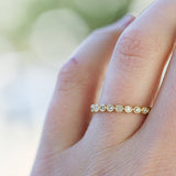BEZEL SET ETERNITY BAND - katie diamond jewelry