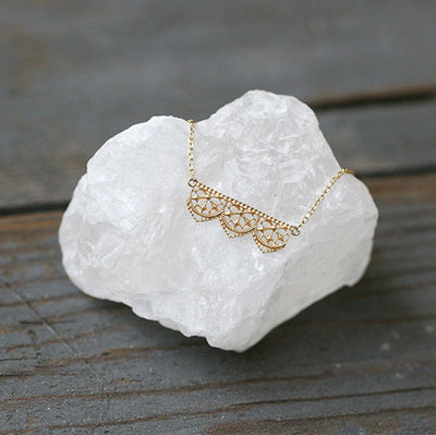 BIANCA LACE NECKLACE - katie diamond jewelry