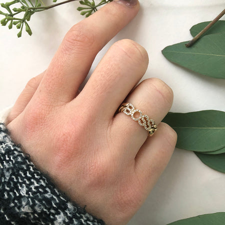 GOLD TWISTED STACKING RING