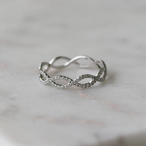 BRAIDED DIAMOND BAND - katie diamond jewelry