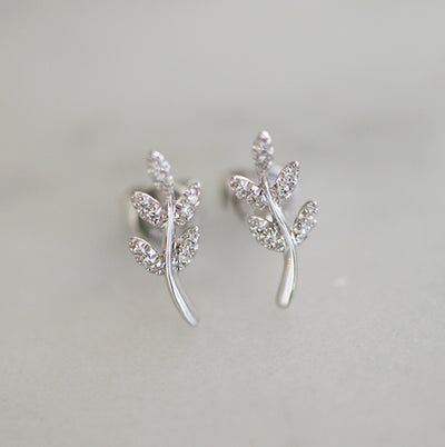 DIAMOND OLIVE BRANCH STUDS