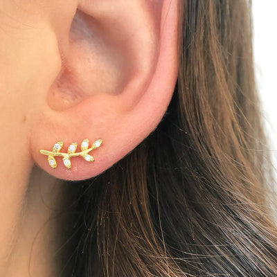 Organic Branch Stud Earrings