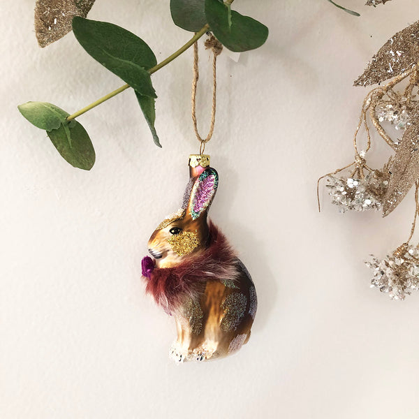 BROWN ARCTIC HARE ORNAMENT