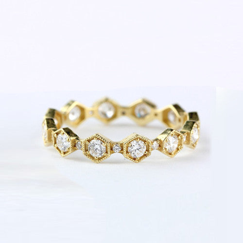 CARINA DIAMOND BAND - katie diamond jewelry