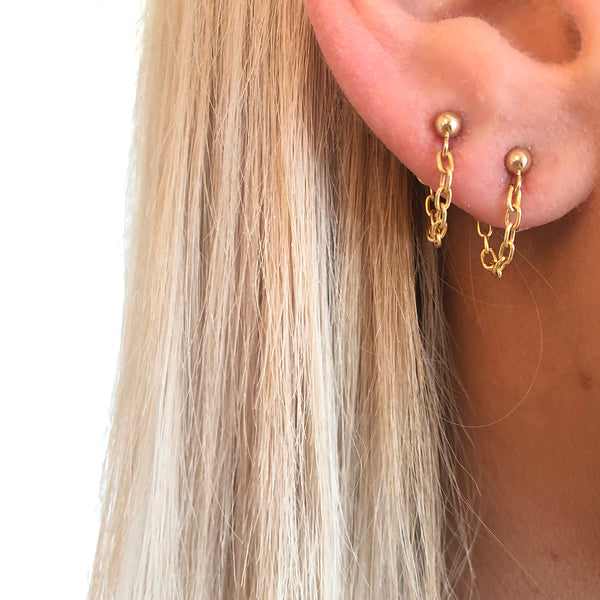 GOLD CHAIN STUDS