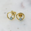CIRCLE AND OPAL STUDS - katie diamond jewelry