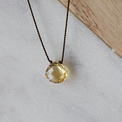 CITRINE ZEN GEM NECKLACE