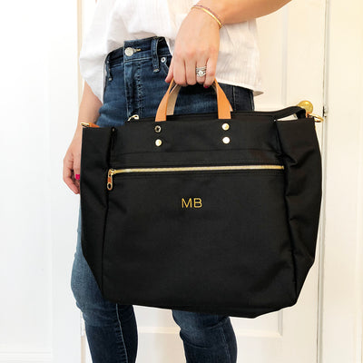 BLVD Codie Nylon Tote in Black at Katie Diamond in Ridgewood NJ
