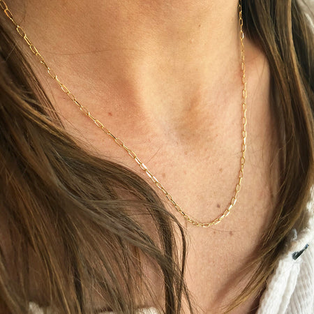 LONG LINK CHAIN NECKLACE