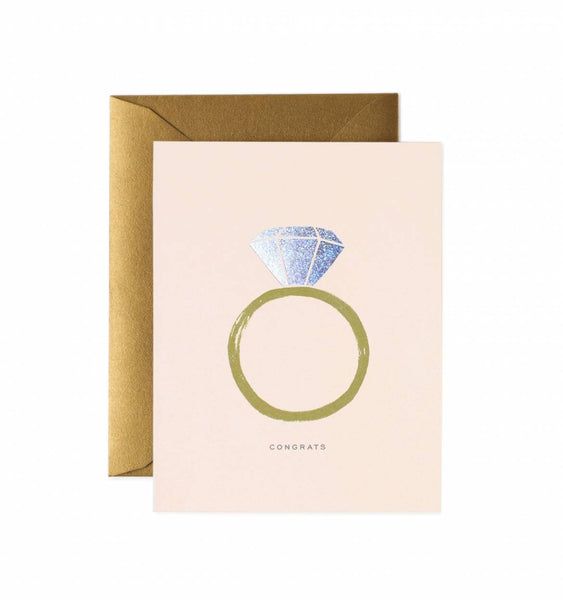 CONGRATS ENGAGEMENT GREETING CARD - katie diamond jewelry