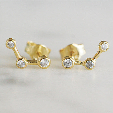 STAR & MOON MISMATCHED STUD SET