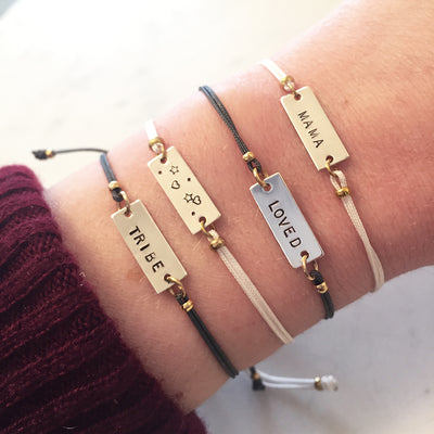 CUSTOMIZABLE BAR PULL BRACELET