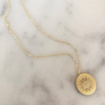 CUSTOMIZABLE MEDALLION NECKLACE