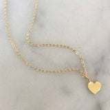 custom monogram gold heart necklace