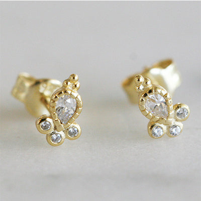 LANTERN STUDS - katie diamond jewelry