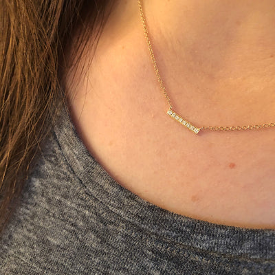 SMALL GOLD BAR NECKLACE