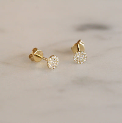 DIAMOND DISC STUDS