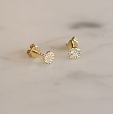 LIGHT GREEN DIAMOND STUDS