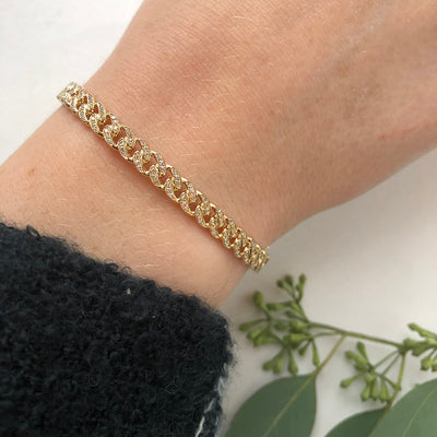 LINKED DIAMOND BANGLE