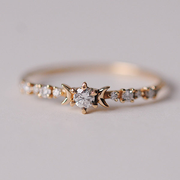 Sofia Zakia Delicate Diamond Wedding Ring