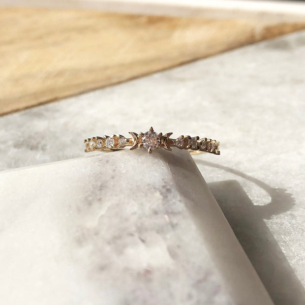 Sofia Zakia Diamond Stardust Alternative Wedding Ring