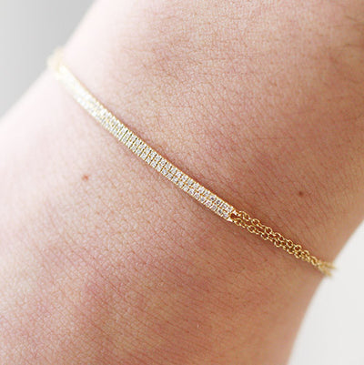 DIAMOND DOUBLE BAR BRACELET