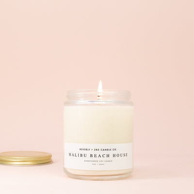 Beverly + 3rd Candle in Malibu Beach House at Katie Diamond in Ridgewood NJ