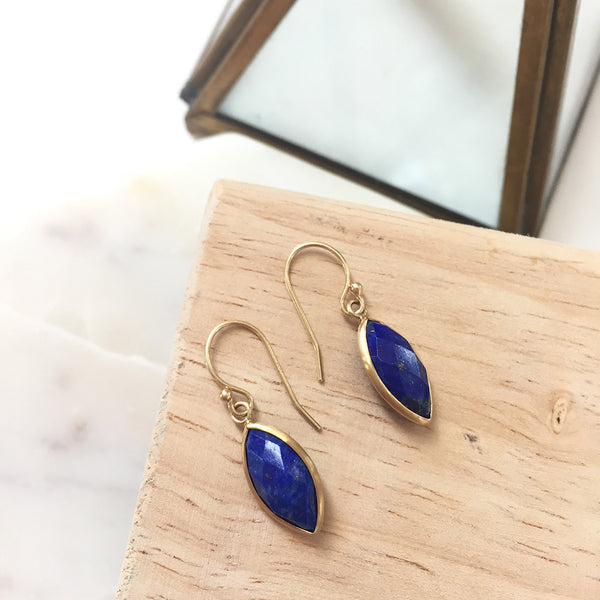 LAPIS MARQUISE EARRINGS