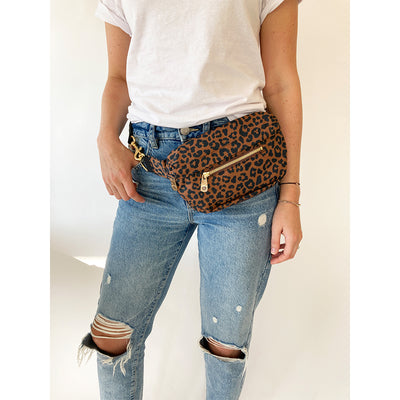 BLVD Franny Fanny Pack in Leopard at Katie Diamond in Ridgewood NJ