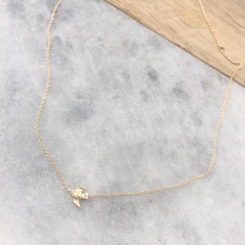 TINY BIRD NECKLACE WITH DIAMOND EYE