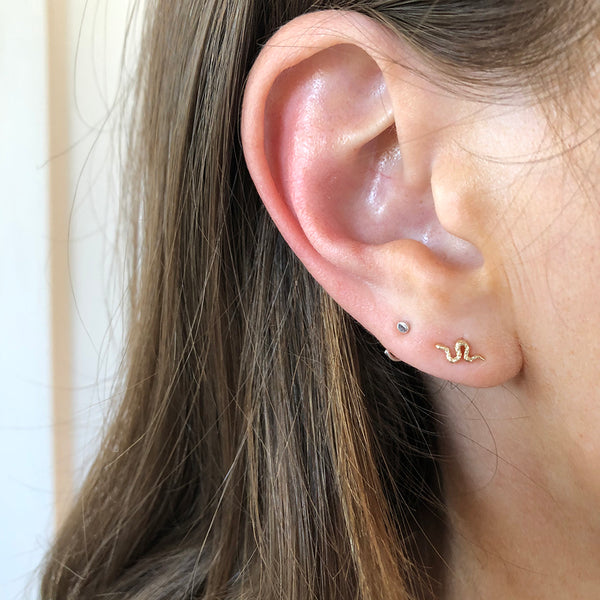 GOLD SNAKE STUD EARRINGS