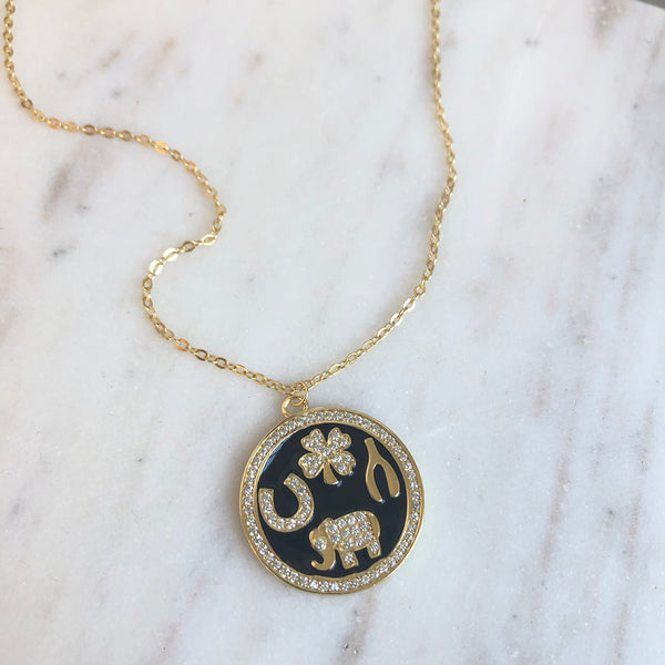 GOOD FORTUNE COIN NECKLACE