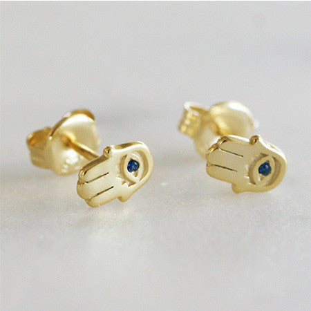 HAMSA PROTECTION STUDS - katie diamond jewelry
