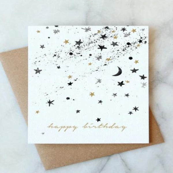 CELESTIAL STARS BIRTHDAY CARD