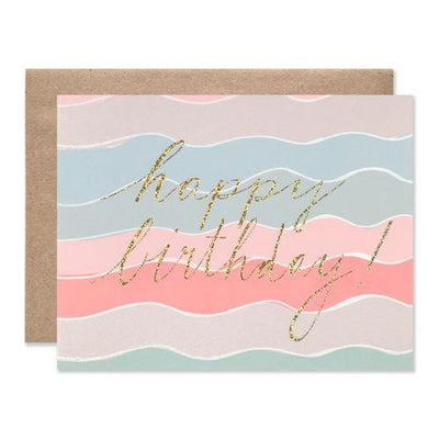 HAPPY BIRTHDAY GLITTER SQUIGGLES CARD