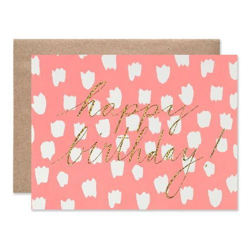 HAPPY BIRTHDAY PINK DOTS CARD