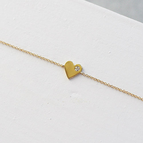 HEART OF GOLD BRACELET - katie diamond jewelry