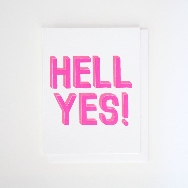 HELL YES CARD - katie diamond jewelry