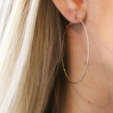 MEDIUM GLIMMER HOOPS - katie diamond jewelry