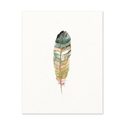 MINIMALIST FEATHER WATERCOLOR PRINT