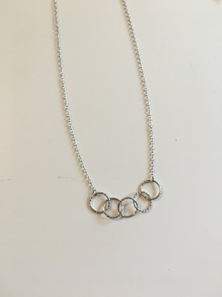 MULTI OPEN CIRCLE NECKLACE