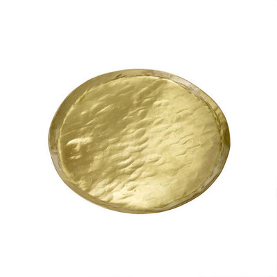 Round Hammered Brass Plate at Katie Diamond in Ridgewood NJ