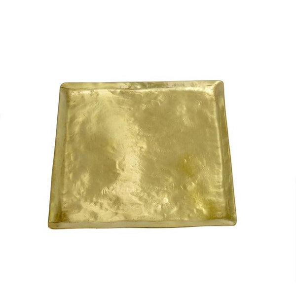 HAMMERED BRASS PLATE