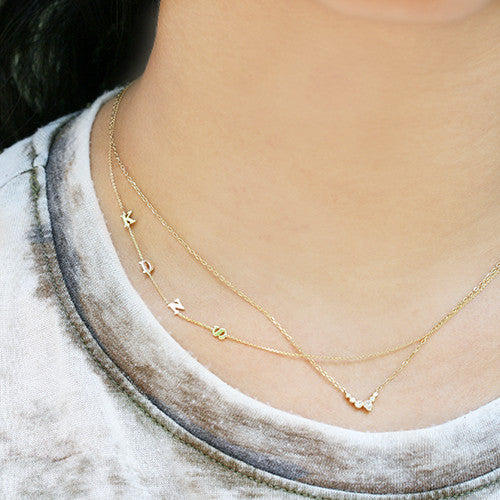 TINIEST INITIALS NECKLACE