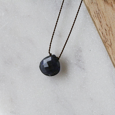 IOLITE ZEN GEM NECKLACE